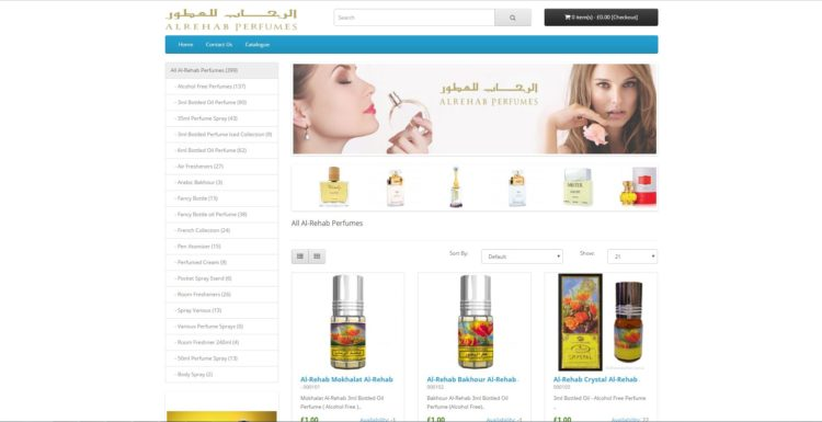 eCommerce Store – Opencart Platform