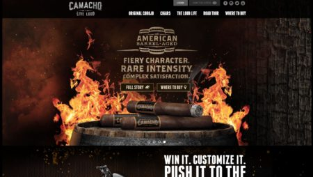 PHP Website For Camachocigars